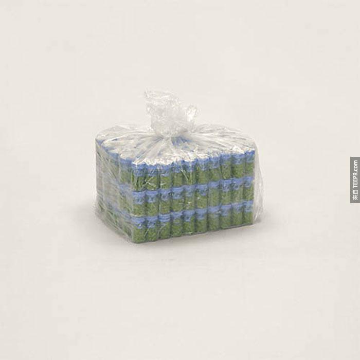 從中國寄出的未標記的藥丸。