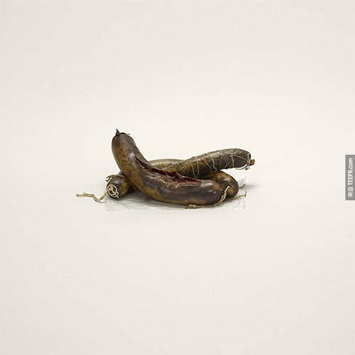 東歐洲的馬香腸(禁止品)。