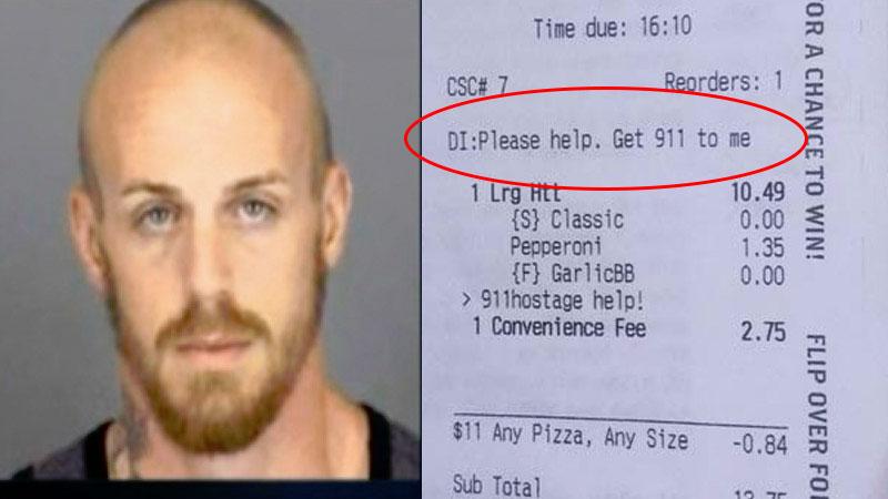 披薩店員看到「奧客的詭異要求」後馬上報警 卻成為一家人的大英雄!