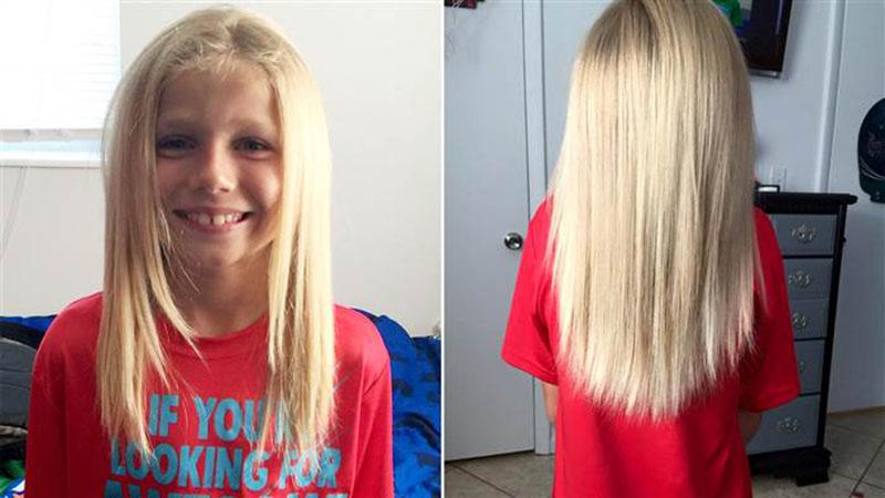 10歲男孩留長髮被嘲笑卻從不退縮 某天剪掉頭髮後大人驚覺他超偉大!