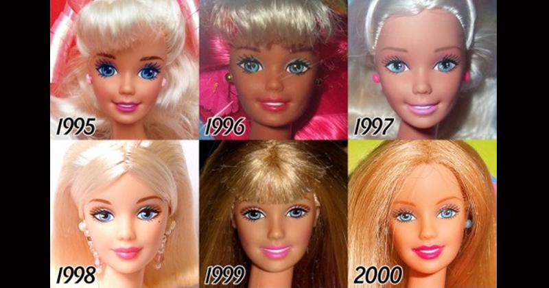 芭比娃娃「56年的進化史」見證人類審美觀的改變 五官膚色都有大變化!
