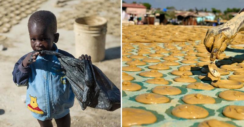 海地人買不起食物「只能吃爛泥土餅乾」果腹 孩子咬下一口...表情卻滿足到讓人難過!