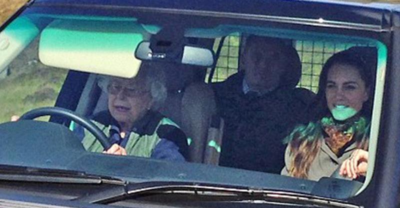 英國女王出遊野餐「把保鑣趕到後面去」 一握方向盤...凱特笑容逐漸母湯!