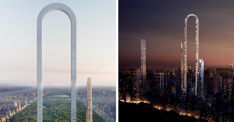 史上最狂「首座U型摩天大樓」 連電梯都變成U型軌道...「拉直後」打敗世界第一高杜拜塔!