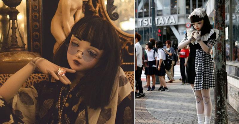 這個娃娃你不能買!日本街頭出現惡夢級「恐怖娃娃人」 無法想像卸妝後的模樣...