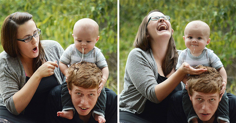 30張毀掉全家福照片「寶寶失敗照」 這種隨時噴發的崩潰真的只有當爸媽的人才會懂...