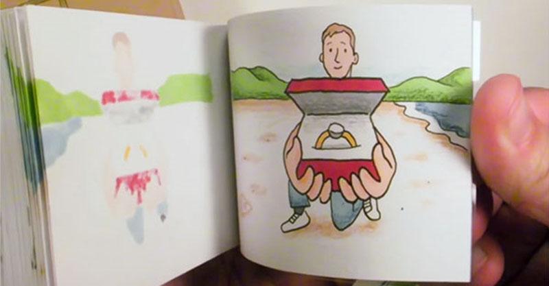 男友送一本彩色手翻書 她翻到最後一頁哭「我願意!」