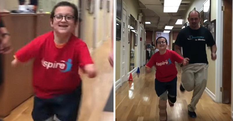 9歲男孩裝上「高科技飛毛腿」 第一次跑步感覺是人生真正的奇蹟!