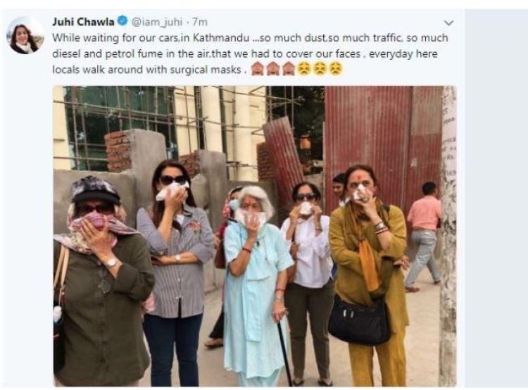 काठमाडौंको सडकलाई बलिउड अभिनेत्री जुहीको यस्तो झापड !