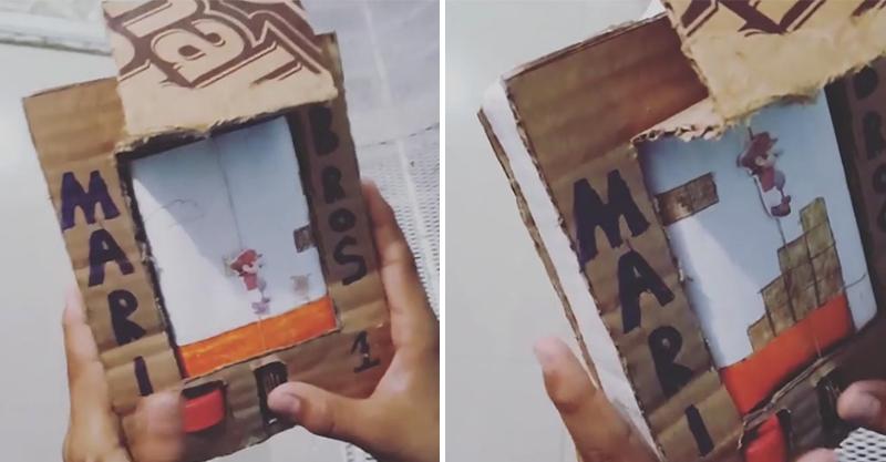 男童沒錢買電動 手工打造「紙板瑪利歐」網狂推任天堂收編!