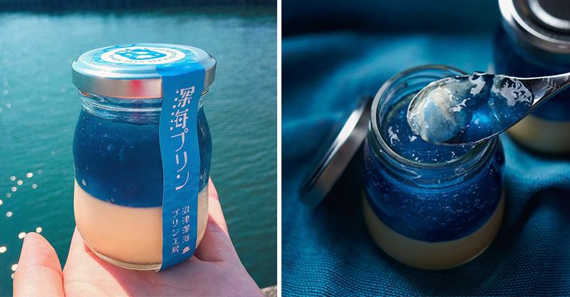 大海的味道!炎夏必吃「藍色深海布丁」 視味覺雙重享受