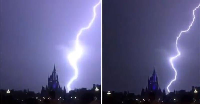 巨大閃電落下!迪士尼城堡畫風一轉秒變《惡魔城》超酷炫❤