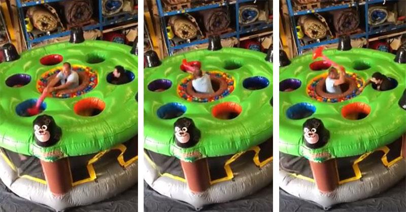 國外爆紅「真人版打地鼠」遊戲 超刺激玩法台灣都應該引進啊!