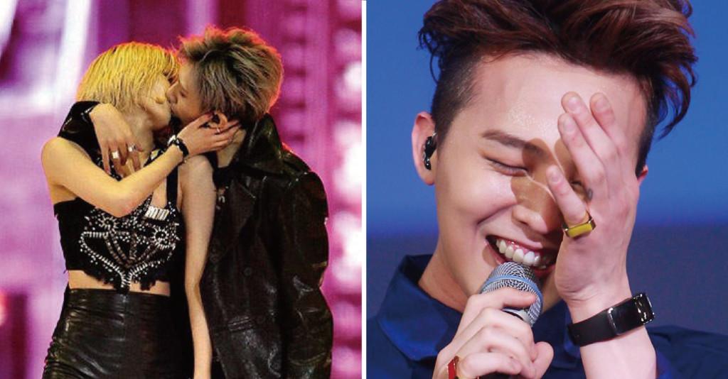 偶像們頒獎典禮插曲 GD看到泫雅親嘴超害羞:這能播嗎?