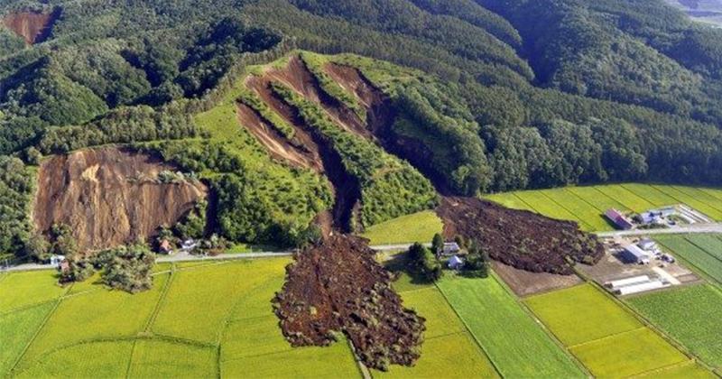 北海道強震山坡地「慘被削下一大塊」 專家:很像2年前熊本大地震