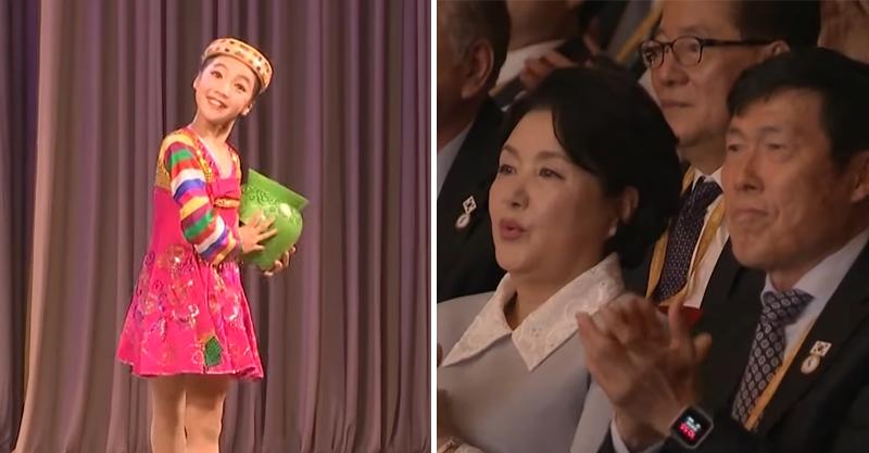 北韓少女化身「人體戰鬥陀螺」 40秒轉140圈up...南韓第一夫人看傻眼