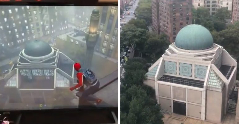宅宅玩《蜘蛛人》驚見「超眼熟建築」 往窗口一看:原來就在我樓下!