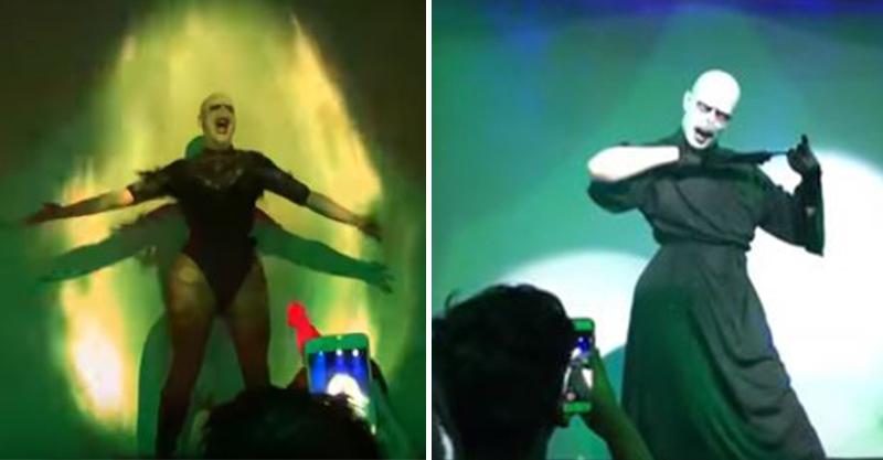 佛地魔變「性感舞孃」尬哈利波特 黑袍拉開觀眾瘋了...身材辣到母湯!