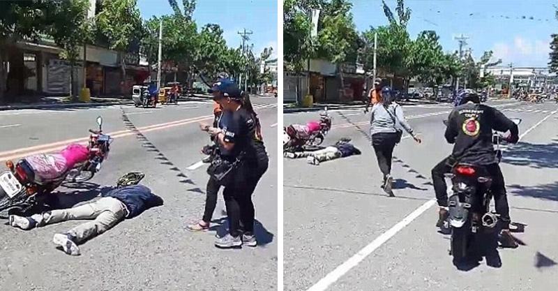 男友發生事故橫躺街頭!她哭到一半人復活 氣到猛甩巴掌:但我還是願意QQ