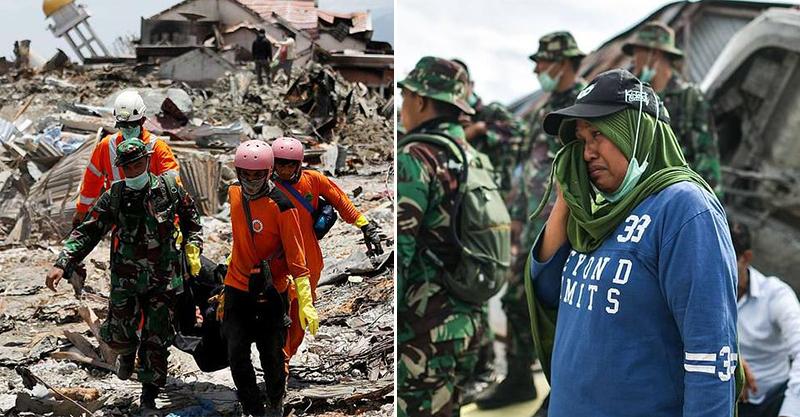 強震海嘯重擊...印尼災區「高樓變廢墟」 搜救人員沉痛:不可能再有生還者