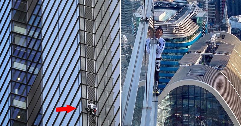 曾征服過台北101!法國蜘蛛人「0安全措施」徒手爬200公尺大樓 下來直接被捕