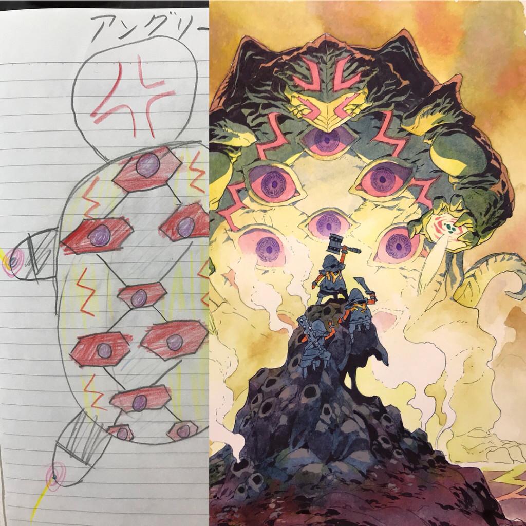 【PART 7】畫家老爸新作!他把兒子塗鴉大升級成帥氣角色 「雙面國王」根本可以拍電影了