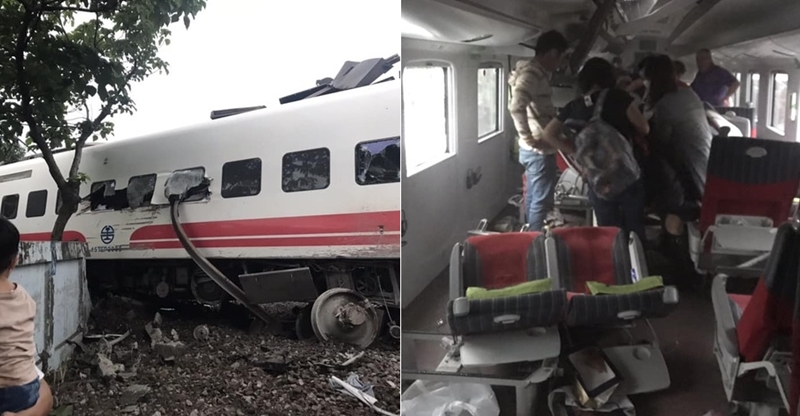 即/普悠瑪宜蘭出軌翻覆!「鐵軌彎曲」卡進車廂 已知3人無生命跡象