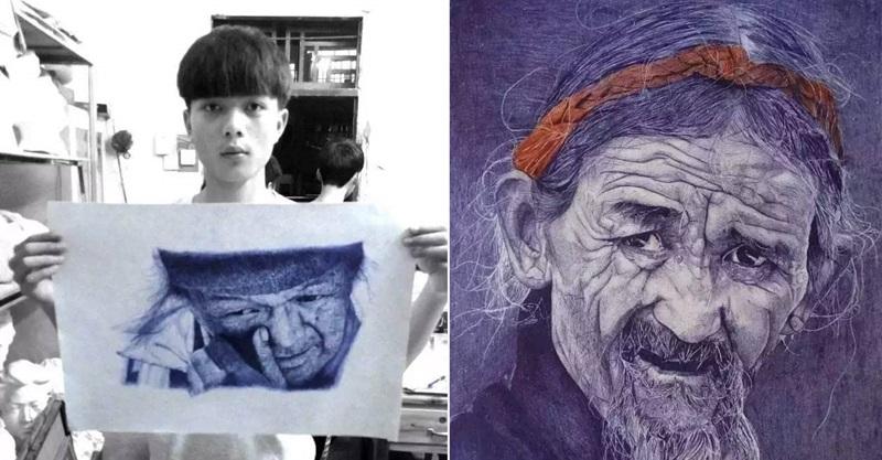 16歲男孩上課被罵「沒用的人」 卻靠著一支原子筆畫出「16張讓你傻眼的百萬級作品」