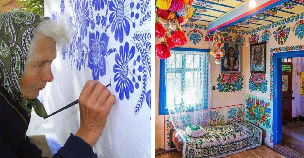波蘭90歲奶奶「決心畫到閻羅王來接」 拿起畫筆點綴村莊變超美花花世界!