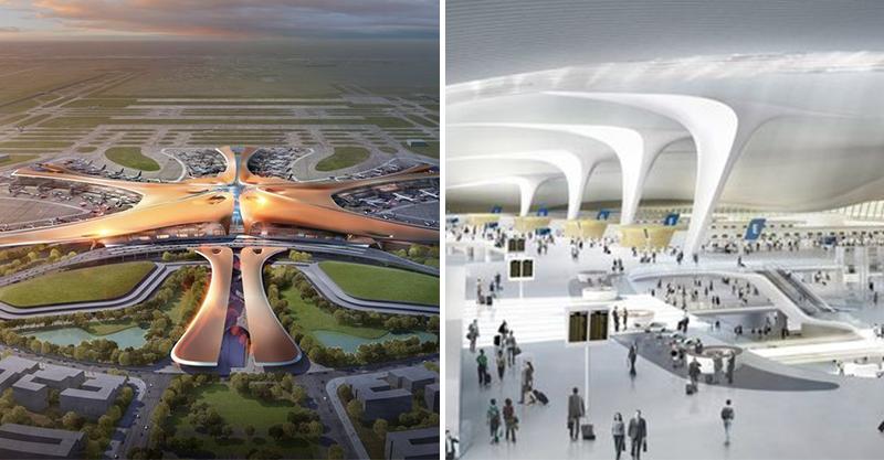 北京新機場根本「金屬光五角海星」 超未來感設計一年要消化1億旅客!