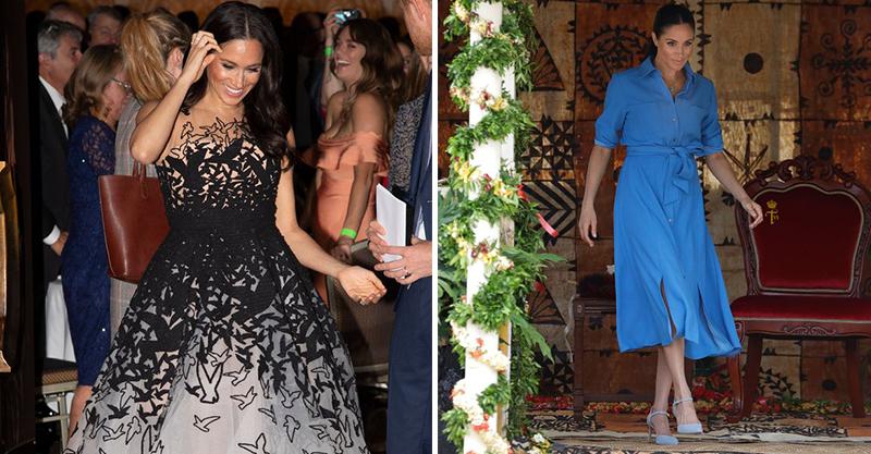梅根結婚後12個月以來的「穿搭風格變化史」 低胸、開高衩不停挑戰皇室極限!