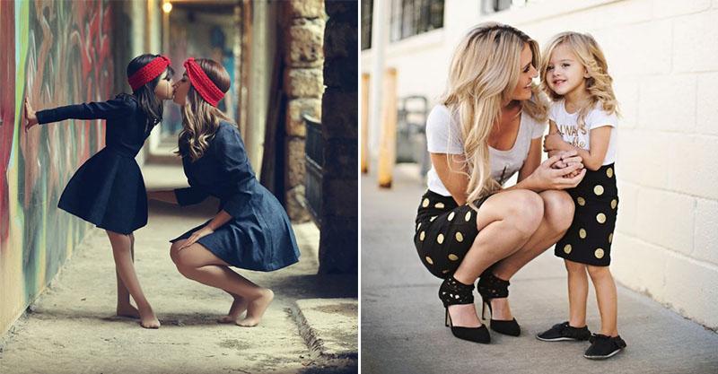 20張讓你們成為最美母女的「時尚媽媽+女兒搭配」 牛仔系列帥氣又可愛❤