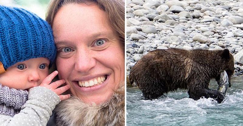 媽媽與10月大女兒湖邊散步「巧遇灰熊」 男友回家傻眼...怎麼都沒有呼吸了