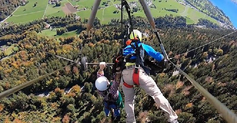 腎上腺素爆發片/教練忘了幫他「綁上生命線」 苦命男在406層樓高空狂晃2分鐘!