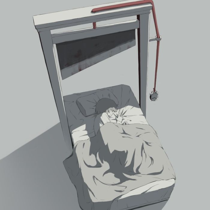 17張說出「現代人內心痛苦想法」暗黑插畫 父母的愛也會成為孩子的牢籠