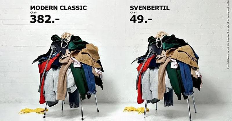 太有共鳴!IKEA最新廣告只用「2張放滿衣服的椅子」就讓你決定選它了~