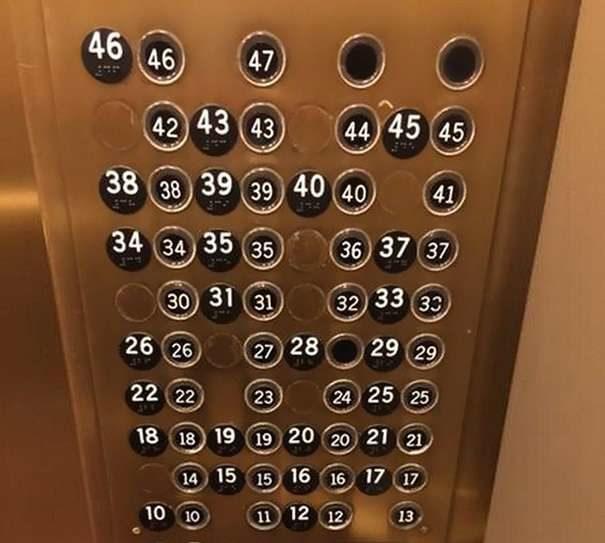 21個「設計師大概需要換一下工作」的超失敗設計 以為進入了《愛麗絲夢遊仙境》的升降機按鈕!