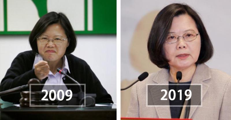 2009 vs. 2019「各國領袖大對比」 時間無情紀錄...蔡英文10年前真的過得好開心!