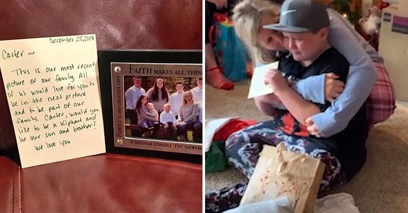 遊走不同家庭11年 小胖弟收到「人生中最期待的禮物」讓他哭到抽氣!