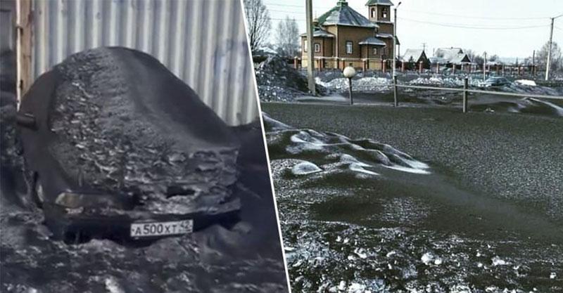 俄羅斯下暴雪卻像「超黑墨魚醬染過」 原因解析後只有2字結論:活該