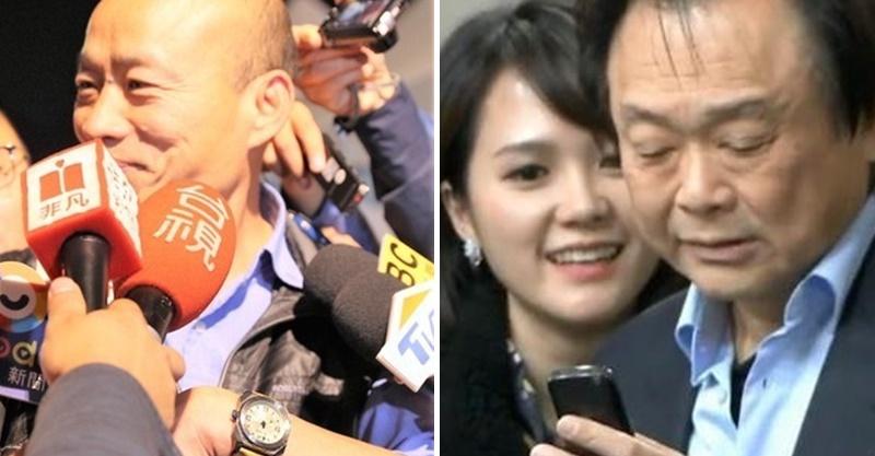 韓國瑜秀「王世堅送的對錶」超滿意 但禮物卻是「拿給她轉交」讓網友笑壞:真的很喜歡!