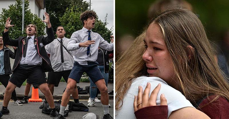 紐西蘭學生在街頭為亡魂「流淚跳哈卡戰舞」 震撼畫面讓網友心碎:光看就痛到不行...
