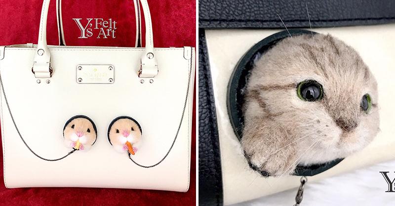 羊毛氈達人製作超Q「毛孩時尚單品」 「小松鼠髮箍」萌到就像牠趴在你頭上!
