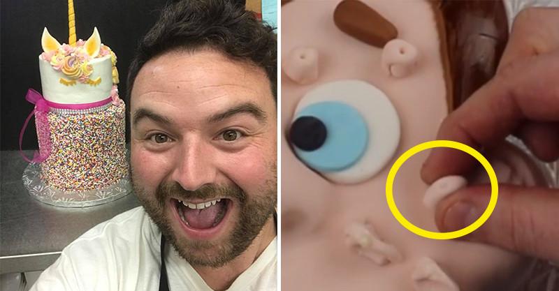 蛋糕師傅打造「療癒指數爆表」的痘痘蛋糕 擠出來瞬間網崩潰:還可以吃?