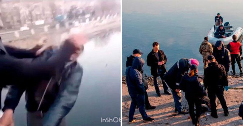 真的要了人命...網紅太想紅拍片「要路人進河裡」 他下去前「緊抓欄杆哀求」:拜託放過我