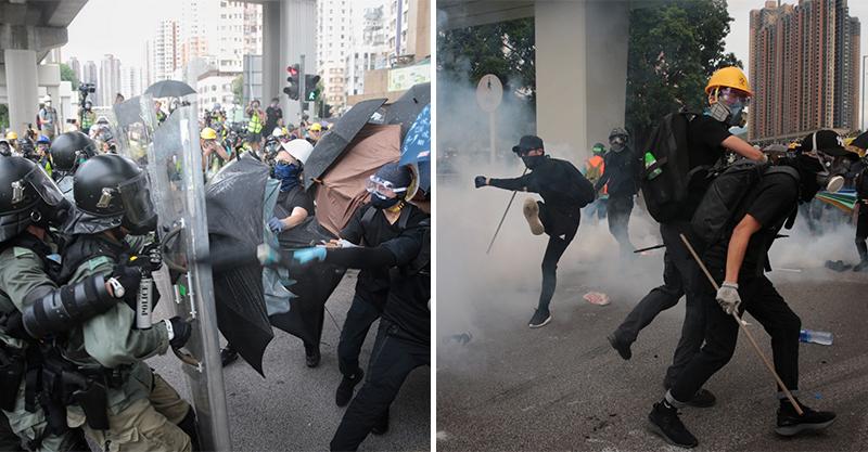 香港元朗再度淪陷!民眾「上街購物」催淚彈滿天飛 警察:我們生命受到威脅