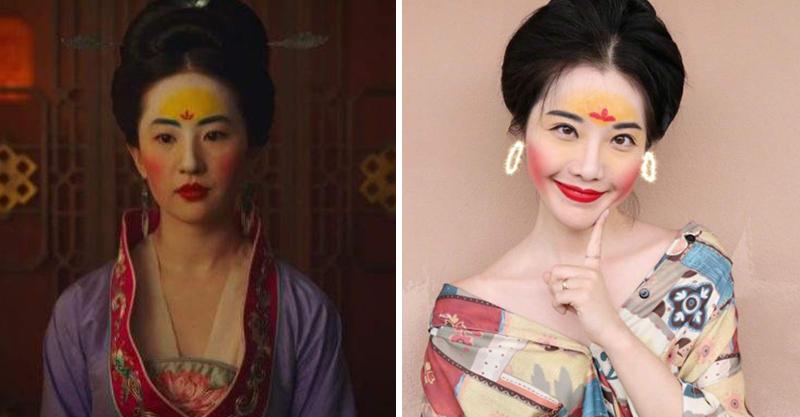 新潮流「花木蘭妝」網美狂模仿 「黃色額頭」讓網友大崩潰:靠顏質也撐不起來