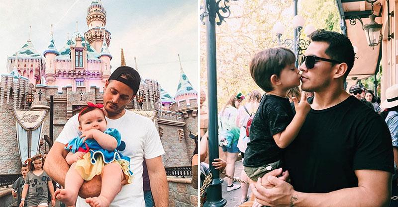 她專門蒐集在迪士尼裡「最認真顧小孩」的老爸 「單手抱女兒」就是帥到不行!