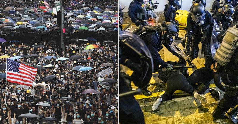 香港728遊行現場曝光!警方「武力清場」抓走49人 催淚彈滿天飛「以為在戰場」