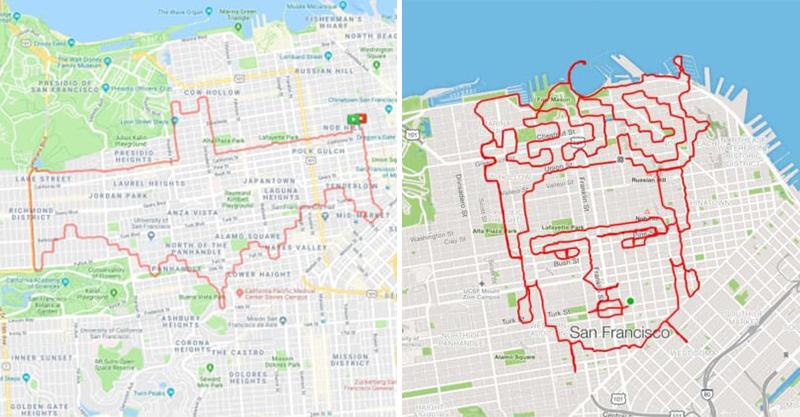 神人邊跑步「偷在城市畫畫」用上帝視角才看的到 他透露關鍵:跑遠一點